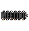 Meeting a long table People work in Office Boss vector image