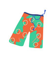 men beach shorts summer travel symbol vector image