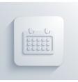 modern calendar light icon vector image vector image