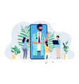 online doctor medical consultation mobile app vector image vector image