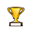 prize cup icon vector image vector image