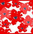 red poppy seamless summer pattern on white vector image