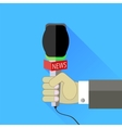 Reporter Holding a Microphone vector image