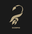 Scorpio Horoscope Icon vector image vector image