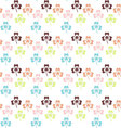 Seamless Colorful shamrock pattern shamrock vector image vector image