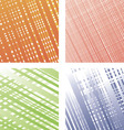Set from four colourful textures vector image