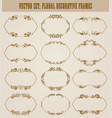 set of decorative hand drawn elements vector image vector image