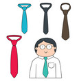 set of necktie vector image