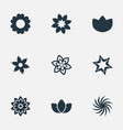 set of simple blossom icons vector image vector image