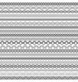 Set of vintage borders for design vector image
