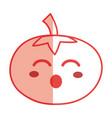 silhouette kawaii cute funny tomato vegetable vector image vector image