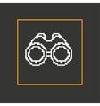 Simple style binoculars pixel icon Design vector image