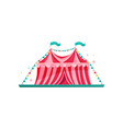 small red-pink circus tent decorated with bunting vector image vector image