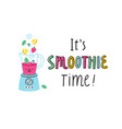 smoothie time vector image