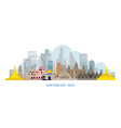 southeast asia landmarks skyline vector image vector image