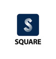 square shiny initial letter s logo concept design vector image