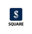 square shiny initial letter s logo concept design vector image