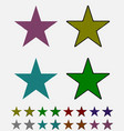 star black star collection with colored stripes vector image vector image