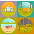 Tourist Campings Concept vector image