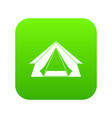 tourist tent icon digital green vector image vector image