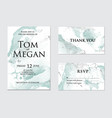 trendy greeting card set with green watercolor vector image vector image