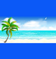 tropical sandy beach vector image vector image
