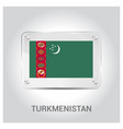 turkmenistan independence day design card vector image