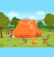 walking hiking or sports outdoor camping vector image vector image