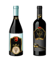 wine bottles with label vector image vector image