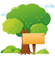 wooden sign in the park vector image vector image