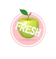 apple label design fresh fruit juice sticker vector image