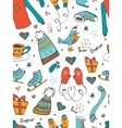 Colorful seamless pattern with hand drawn graphic vector image