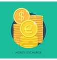 Money exchange vector image
