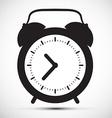Simple Flat Design Alarm Clock Icon vector image