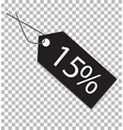 15 percent tag on transparent background 15 vector image vector image