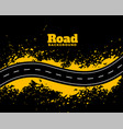 abstract road pathway with yellow splatter vector image vector image