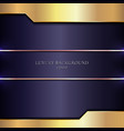 abstract shiny stripes gold metal on purple vector image