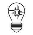 ai processor bulb icon outline style vector image vector image