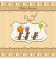 baby shower announcement card vector image