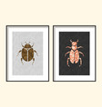 beetle wall poster art designs vector image vector image
