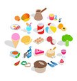 bite icons set isometric style vector image vector image