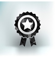 blue best of badge with ribbon icon award champion vector image