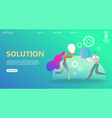 business landing page template vector image vector image