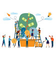 business people and the plant of money concept vector image vector image
