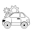 car vehicle with gears vector image vector image