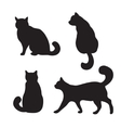 Cats set silhouette vector image vector image
