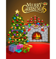 Christmas greeting card with candles Christmas tre vector image vector image