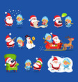 claus and snow maiden set vector image