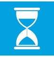 Clock white icon vector image