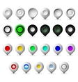 Colored markers geolocation icons vector image vector image